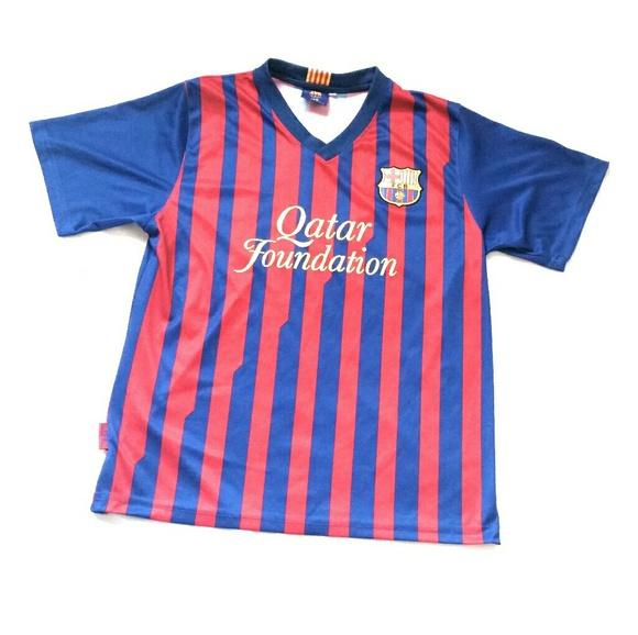 sports shoes f8d4d 3854b MENS Small FC Barcelona Barca FCB Jersey Shirt